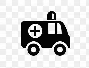 Flat Black Ambulance Icon - Ambulance Apple Icon Image Format Icon PNG