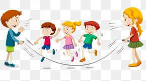 Child - Jump Ropes Jumping Child Clip Art PNG