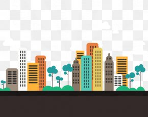 City - Gandhinagar Abstract City Apartment Flat Design PNG