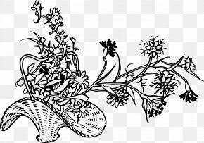 Small Flowers - Drawing Basket Flower Coloring Book Clip Art PNG