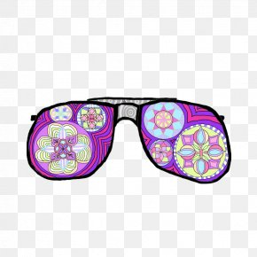 Sunglasses - Goggles Sunglasses Purple Product PNG