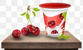 Cherry Milk - Frozen Yogurt Royalty-free Clip Art PNG