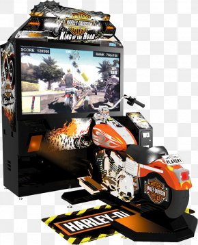 Motorcycle - Harley-Davidson & L.A. Riders King Of The Road Arcade Game Video Game PNG