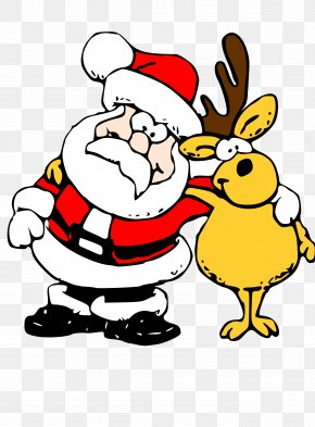 Father Christmas Clipart - Rudolph Santa Clauss Reindeer Santa Clauss Reindeer Mrs. Claus PNG