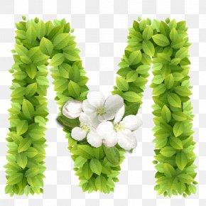 Floral Alphabet L - Letter Alphabet Writing System Clip Art PNG
