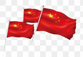 Five Starred Red Flag - National Day Of The People's Republic Of China Flag Of China Red PNG