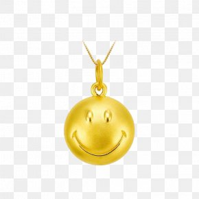 Tide Acer Official Authentic Series Smiling Smiley - Smiley Gold Locket PNG