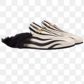 Gucci Zebra Slippers - Slipper Gucci Slip-on Shoe Zebra PNG