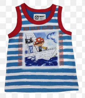 T-shirt - T-shirt Blue Sleeveless Shirt Dress PNG