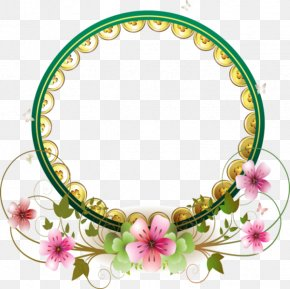 Circle Border - Wedding Ring Flower Wedding Cake PNG
