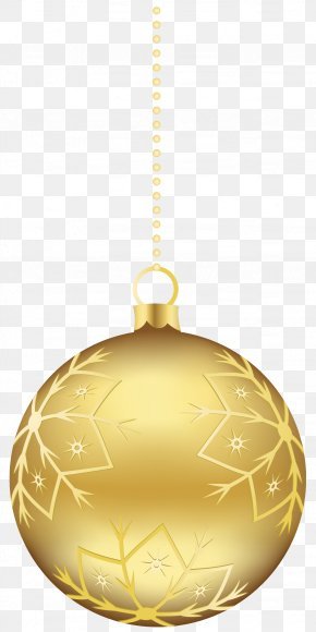 Large Transparent Gold Christmas Ball Ornament Clipart - Christmas Ornament Gold Clip Art PNG