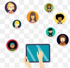 Click Hand Tablet - Euclidean Vector Social Network Clip Art PNG