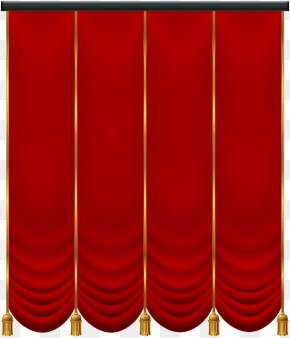 Red Curtain Transparent Clip Art - Icon Clip Art PNG