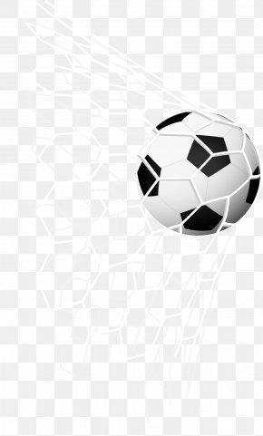 Soccer Kick Into The Net Inside The Vector - Football Goal Wallpaper PNG