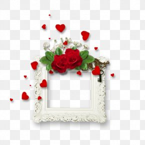 Continental Red Rose Frame - Picture Frame PNG