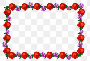 Lace Border - Red Lace PNG