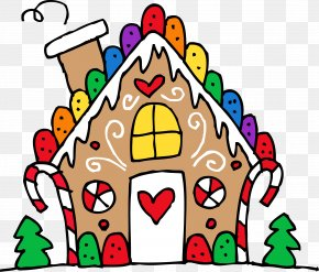 Ginger Bread House - Gingerbread House The Gingerbread Man Clip Art PNG