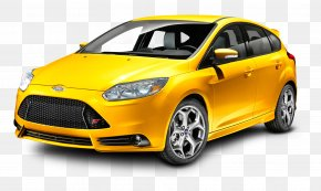 Ford Focus Yellow Car - 2014 Ford Focus ST Car Ford Fiesta Ford S-Max PNG