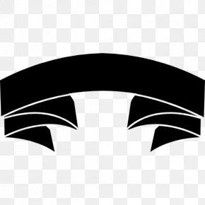BLACK RIBBON - Black Ribbon Banner Shape PNG