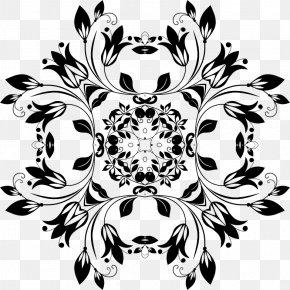 Design - Floral Design Mandala PNG