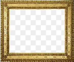 European Gold Frame Picture Frame - Picture Frame Gold PNG