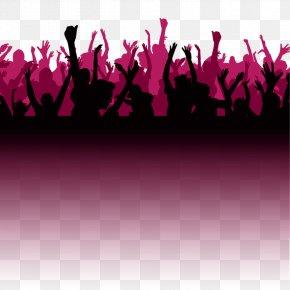Bar Party Cheer Silhouette Figures - Disc Jockey AptX Headphones Bluetooth PNG
