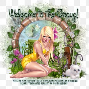 Enchanted Forest - Floral Design Fairy Flowering Plant Picture Frames PNG