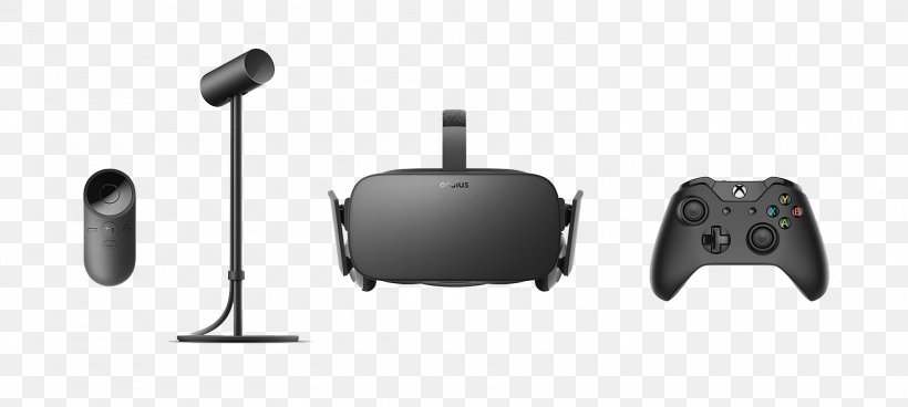 Oculus Rift Virtual Reality Headset HTC Vive Samsung Gear VR, PNG, 1600x720px, Oculus Rift, All Xbox Accessory, Black, Electronics, Headphones Download Free
