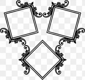 Design - Picture Frames Icon Design Black And White PNG