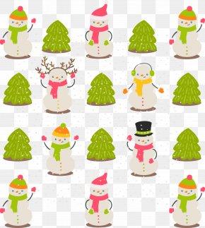 Beautiful Christmas Tree Snowman - Christmas Tree Rudolph Snowman Clip Art PNG
