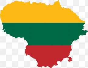 Lithuanian Flag - Flag Of Lithuania Map National Flag PNG