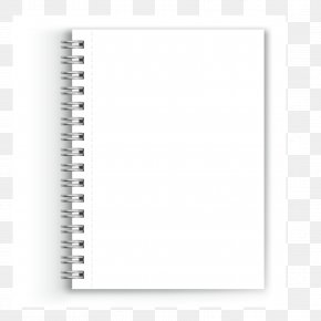 Vector Notebook - Paper Notebook White Black Font PNG