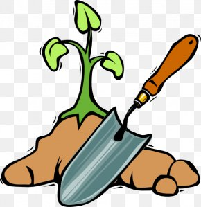Seed Planting Cliparts - Garden Tool Shovel Spade Clip Art PNG