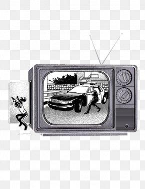 Gray Old TV Illustration - Long-sleeved T-shirt Hoodie Designer PNG