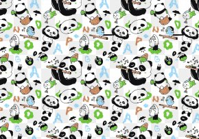 Vector Seamless Panda Pattern - Giant Panda Bear Pattern PNG