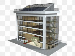Glass Building - Facade Window Glass Commercial Building PNG