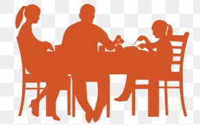 Eating - Table Dining Room Dinner Silhouette PNG