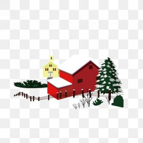 Santa Claus,winter,houses - Christmas Snow House Winter PNG