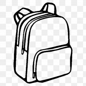 Backpack - Coloring Book Backpack Bag School Drawing PNG