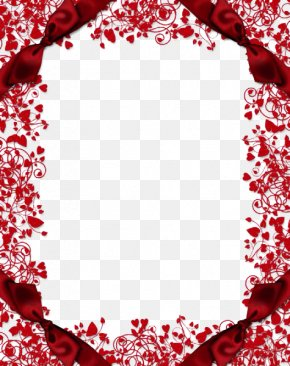 Red Flower Frame Clipart - Picture Frame Wallpaper PNG