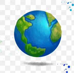 Creative Drawing Earth - Earth Creative Watercolor Drawing PNG