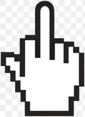 Hand - Middle Finger Index Finger Hand PNG