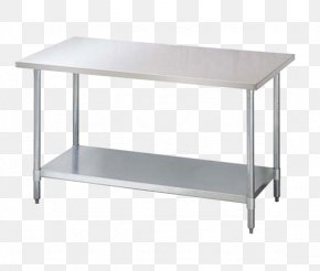Low Table - Table Shelf Catering Stainless Steel Industry PNG