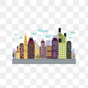 Colored Building - Vector Building Skyscraper High-rise Building PNG