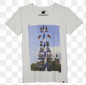 T-shirt - T-shirt Viktualienmarkt Sleeve Maypole Font PNG