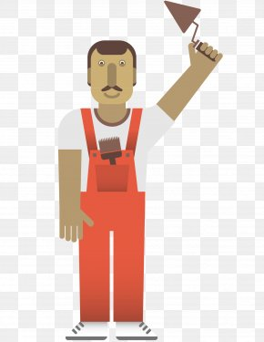 Construction Workers Templates Download - Laborer Cartoon Construction Worker Illustration PNG