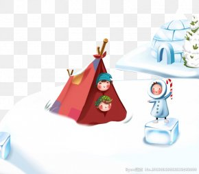Snow Camping - Winter Stock Illustration Cartoon Illustration PNG