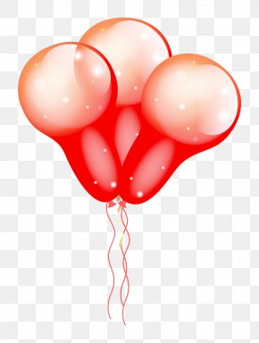 Deformation Texture Of Red Balloons - Balloon Download Ribbon PNG