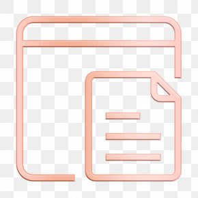 Rectangle Web Icon - Document Icon Essential Icon Object Icon PNG