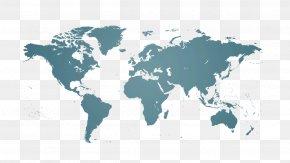 World Map - United States Globe World Map PNG